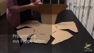 Präsentkorb aus Pappe
